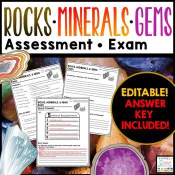 Rocks and Minerals Exam - Assessment