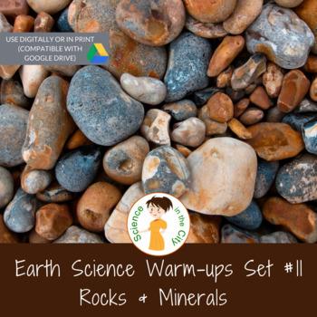 Rocks and Minerals Exit Ticket or Bell Ringer Task Card Set