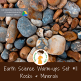 Rocks and Minerals Exit Ticket or Bell Ringer Task Card Set