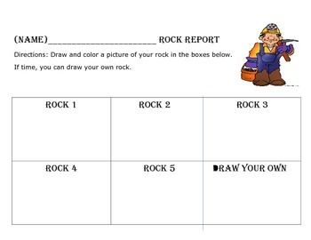 Rocks and Minerals Experiment Handout