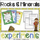 Rocks and Minerals Worksheets Experiments