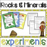 Rocks and Minerals Worksheets Experiments
