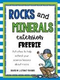 Rocks and Minerals: Extension FREEBIE