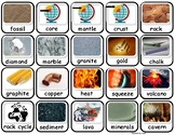 Rocks and Minerals Flashcards/Matching/ Memory Game for Autism
