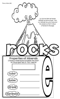 Rocks and Minerals Flip Flap Book®
