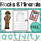 Rocks and Minerals Activity Freebie