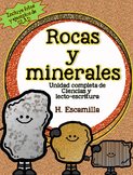 Rocks and Minerals Unit in Spanish