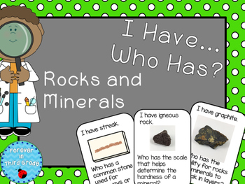 Rocks and Minerals Game