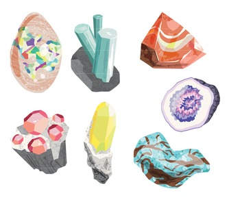 Rocks and Minerals Gemstone Clip Art
