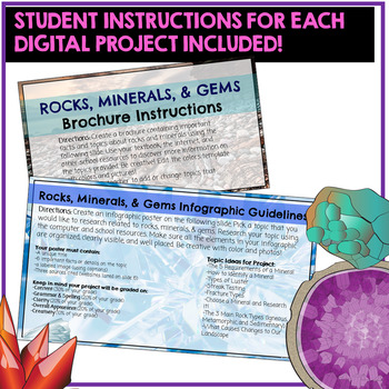 Rocks and Minerals Google Classroom Student Projects