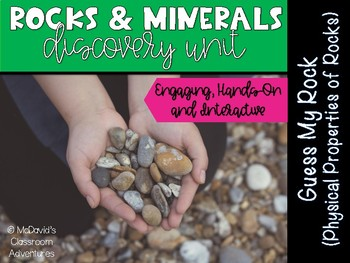 Properties of Rocks: Guess My Rock (Super Cute, Engaging Activity)