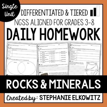 Rocks and Minerals Homework