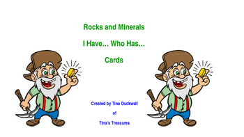 Rocks and Minerals I Have...Who Has... Cards