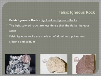 Rocks and Minerals - Igneous Rocks