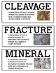 Rocks and Minerals Illustrated Word Wall (Grade 4 Ontario)
