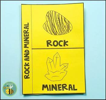 Rocks and Minerals- Interactive science notebook foldable