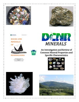 Rocks and Minerals:  MINERAL Investigation (General Overview - COLORFUL)