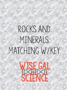 Rocks and Minerals Matching