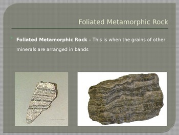 Rocks and Minerals - Metamorphic Rocks