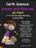 Rocks/Minerals NO PREP Close Reading Plans w/Assessment- 2nd-6th grade
