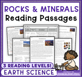 Rocks and Minerals: Non-Fiction Reading Passages & Questions