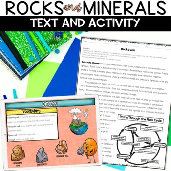 Rocks And Minerals Nonfiction Reading Activity Worksheets By