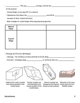 Rocks and Minerals Notes Packet