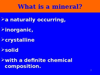 Rocks and Minerals PPT