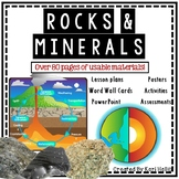 Rocks and Minerals Pack - Lesson Plans, activities, posters, assessment & more