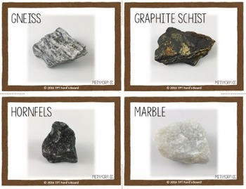 Rocks and Minerals Photo Activity Cards