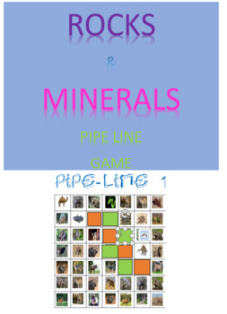 Rocks and Minerals Pipe Line Game