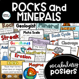 Rocks and Minerals Posters (vocabulary posters and rock cy