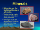Rocks and Minerals PowerPoint
