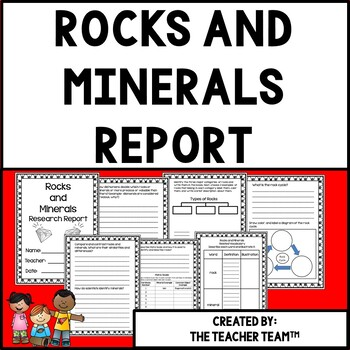 Rocks and Minerals Research  Report for Earth Science Units