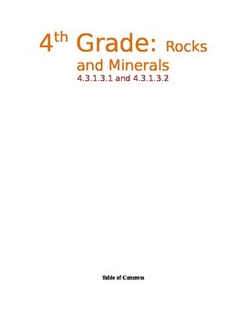 Rocks and Minerals Resource File for Unit