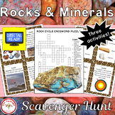 Rocks and Minerals Scavenger Hunt