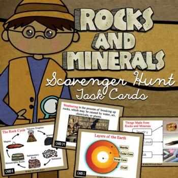 Rocks and Minerals Scavenger Hunt Task Cards