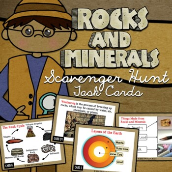 Rocks and Minerals Scavenger Hunt Task Cards