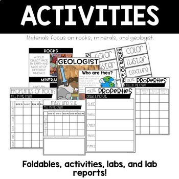 Rocks and Minerals Science Materials