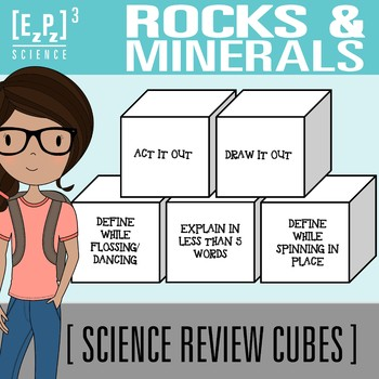 Rocks and Minerals Science Cubes