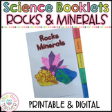 Rocks and Minerals Tabbed Booklet