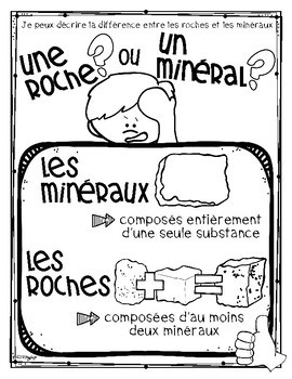 Rocks and Minerals Science Unit in FRENCH