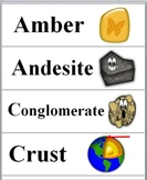Rocks and Minerals Science Word Wall