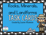 Rocks, Minerals, and Landforms Task Cards and Scoot Game
