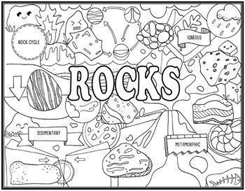 Rocks & Minerals Seek and Find Science Doodle Combo