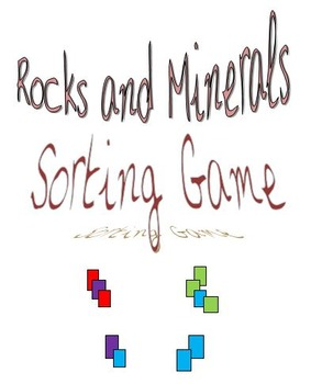 Rocks and Minerals Sort Game