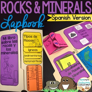 Rocks and Minerals Spanish Lapbook: Rocas y minerales
