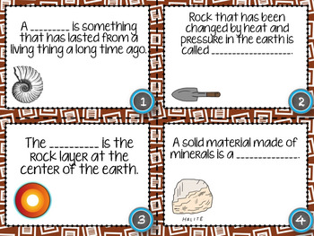 Rocks and Minerals Task Card Activity