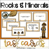 Rocks and Minerals Worksheets Task Cards