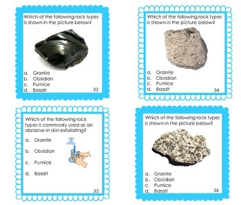 Rocks and Minerals Task Cards (Igneous Rocks)